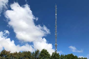 A tall and well sited telecommunications antenna to provide the maximum coverage