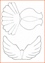 Бумажный голубь своими руками шаблон – Объемный Голубь Мира Шаблон и Трафарет