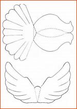 Сделать голубя из бумаги своими руками шаблоны – Как сделать голубя из бумаги — пошаговая инструкция с фото