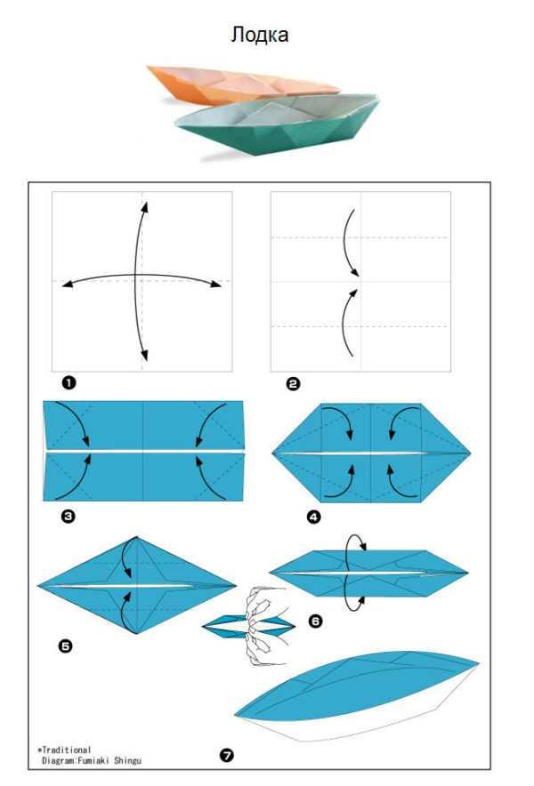 Как сделать катер из бумаги пошаговая инструкция Оригами из бумаги поэтапно