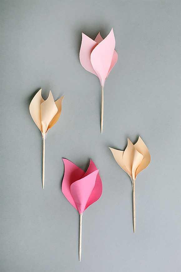 модель цветка из бумаги пошаговое фото был нанесён ножом